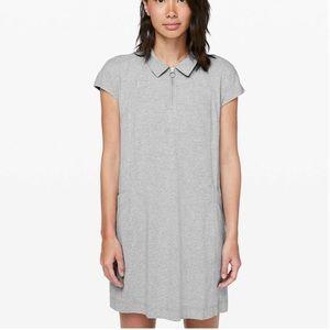 Lululemon Gray Polo Pro Form Mini Dress Pockets